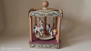 Carillon Giostra Cavalli per bambini e adulti (Melodia: Sinfonia n°9 di Beethoven)