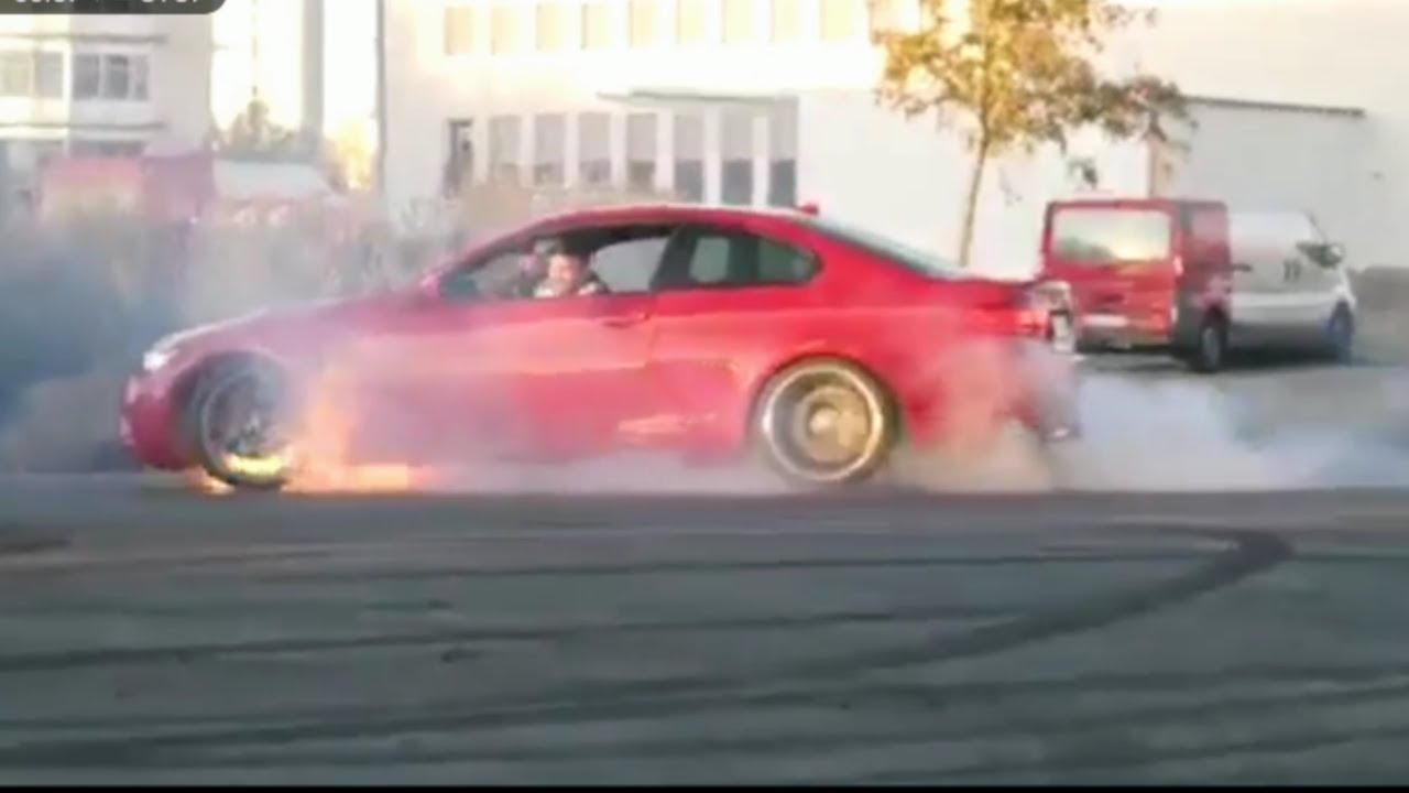 Bmw M3 Explodes In Fire Youtube