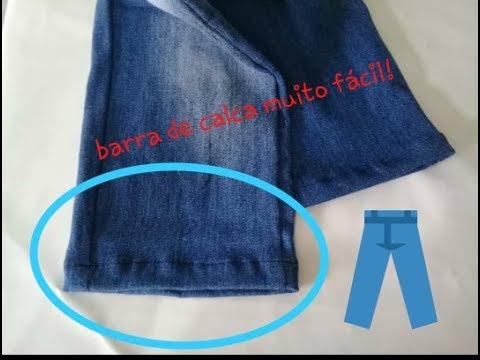 Como fazer barra em calça jeans!