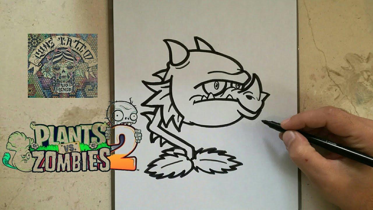 COMO DIBUJAR AL BOCADRAGON - PLANTS VS ZOMBIES 2 / how to draw ...