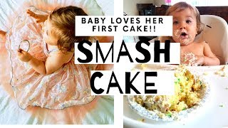 FIRST BIRTHDAY || HOW I SAVED A TON ON BIRTHDAY GIFTS || BABY EATS SMASH CAKE, SO FUNNY
