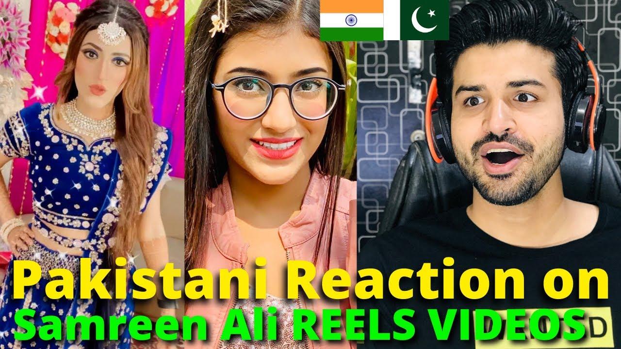 Pakistani React on Samreen Ali REELS VIDEOS | Indian Youtuber | Reaction Vlogger