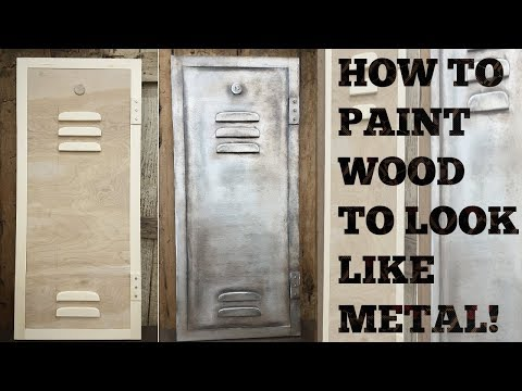 How to paint wood to look like metal