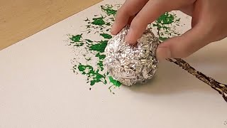 How to draw a tree easy / Aluminum painting technique