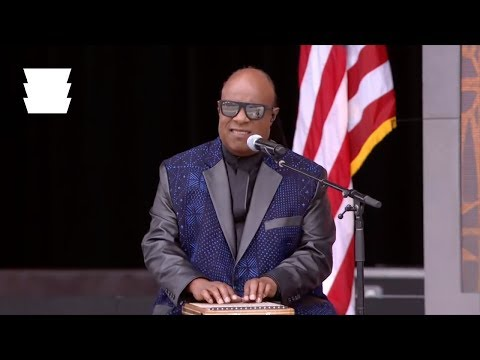 Stevie Wonder Performs at the NMAAHC Grand Opening Dedication Ceremony