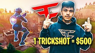 First to Hit a Trickshot Wins $500 (Fortnite Challenge w/ Brother)