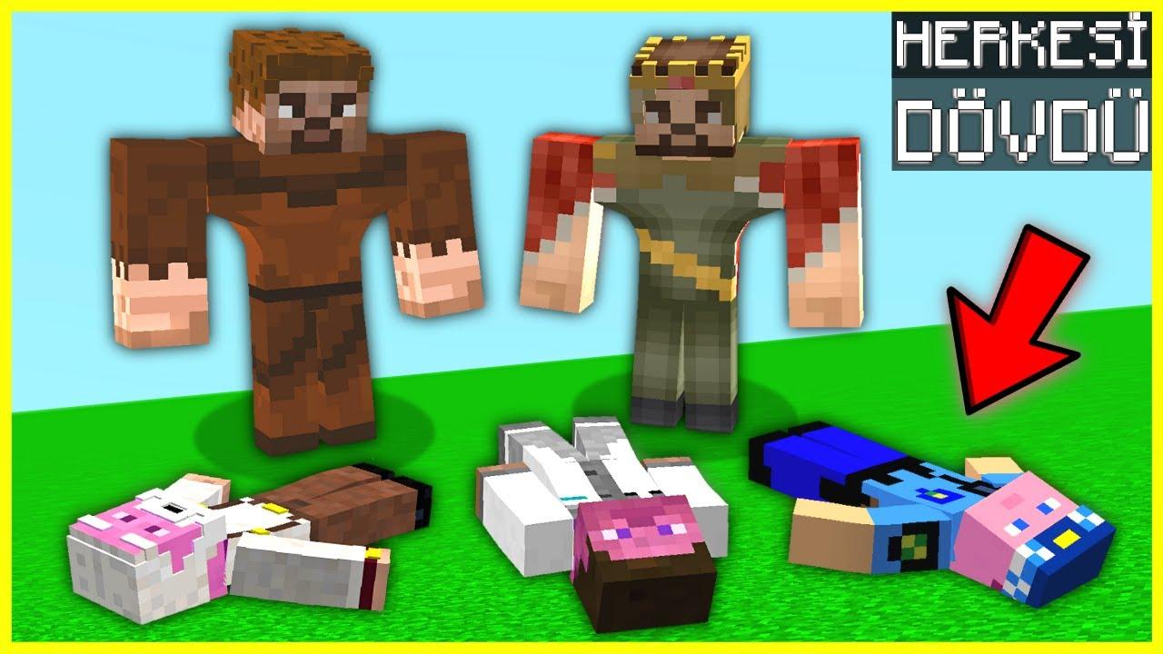 KASLI ARDA VE RÜZGAR ŞEHİRDEKİ HERKESİ DÖVDÜ! 😱 - Minecraft