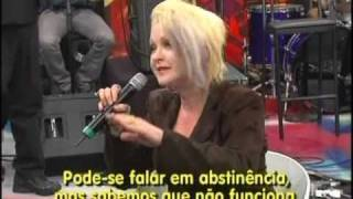 CYNDI LAUPER on ALTAS HORAS (Brazilian tv show) part 2