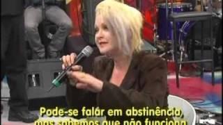 CYNDI LAUPER on ALTAS HORAS (Brazilian tv show) part 2