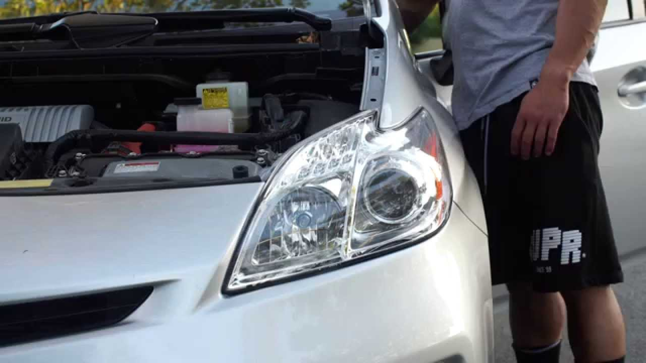 toyota prius led headlight installation