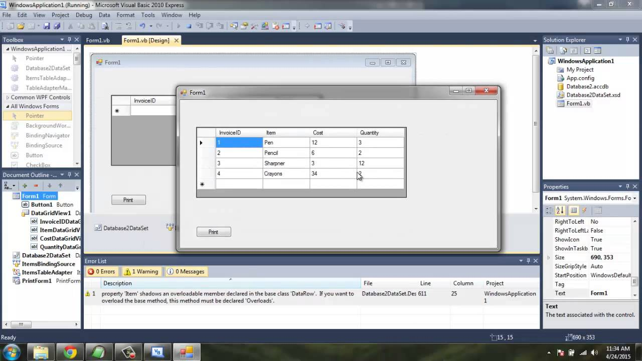 Print Windows Form Using PrintForm Component Visual Basic ...