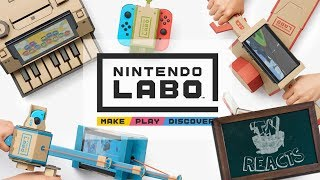 FIRST LOOK AT NINTENDO LABO!! | Thinknoodles Reacts
