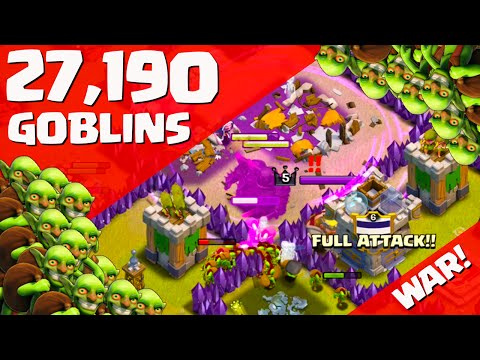 Clash of Clans ♦ 27,190 GOBLINS! ♦ Clan War Chaos! ♦ CoC ♦