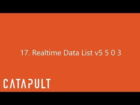 17 Realtime Data List v5 5 0 3