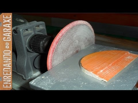 Lijadora de disco en torno taladro disc sander lathe - Lijadora para taladro ...