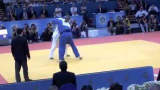 世界柔道選手権2011団体戦決勝戦残り2分