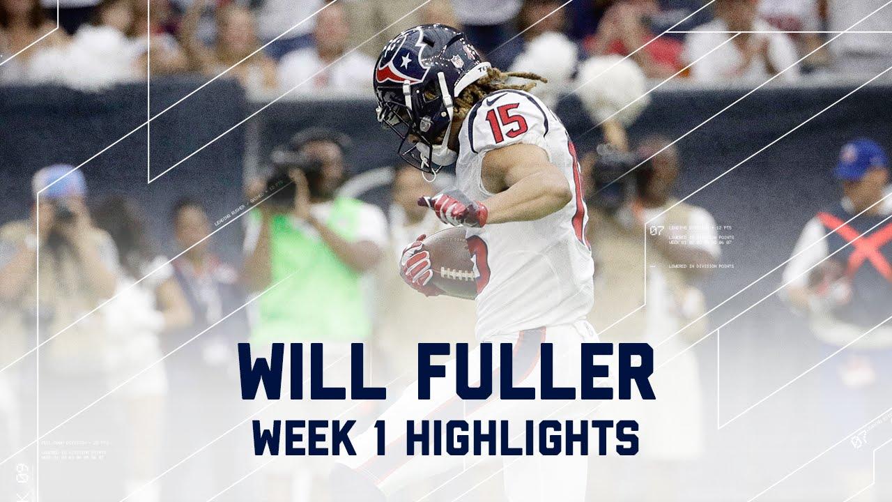 Every Will Fuller Catch   Bears vs. Texans   NFL Week 1 ...