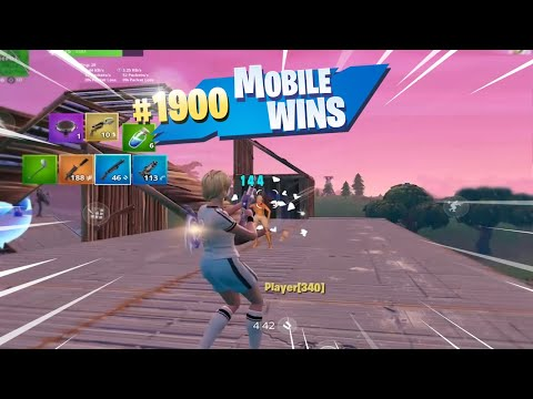 MY 1900th WIN ON FORTNITE MOBILE (Fortnite Mobile Battle Royale Gameplay)