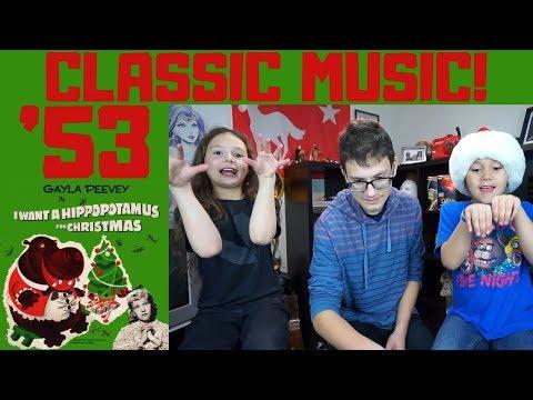 Gayla Peevey - I Want A Hippopotamus For Christmas REACTION