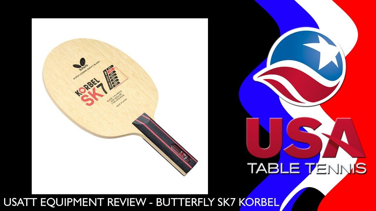 USATT Equipment Review: Butterfly SK7 Korbel Table Tennis Blade ...
