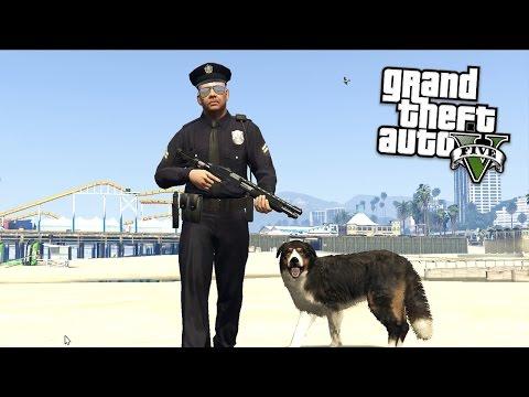 PLAY AS A COP!! DOG EDITION!! (GTA 5 Mods Showcase!!)