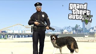 PLAY AS A COP!! DOG EDITION!! (GTA 5 Mods Showcase!!)
