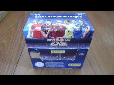 BOOSTER BOX opening panini ADRENALYN XL CHAMPIONS LEAGUE 2013 / 2014 trading cards (50 PACKS!!!) UK