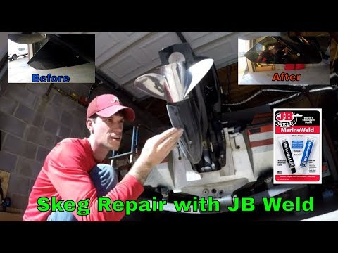 skeg-repair-with-jb-weld-|-ran-the-boat-over-rocks-|-b-fishing-|