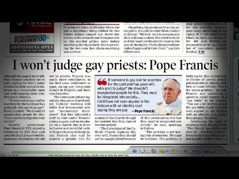 Pope Francis on same-sex rights
