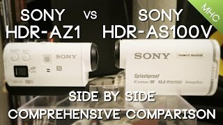 sony HDR-AZ1 vs Sony AS100V HD