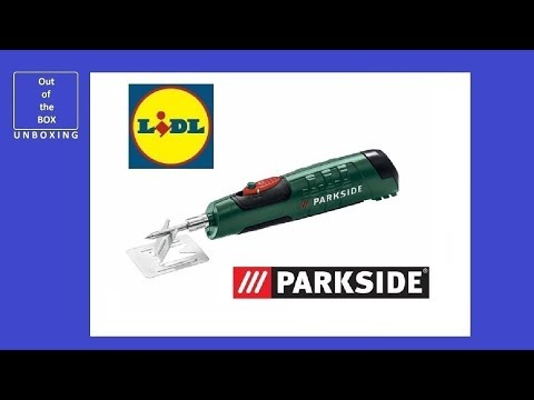 UNBOXING Parkside Battery Soldering Iron PBLK 6 B2 (Lidl 6W