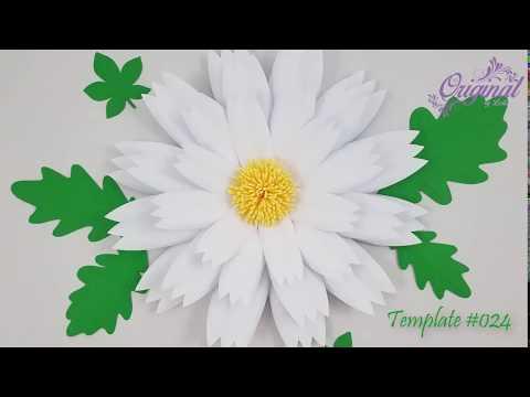 DIY Paper Flower || Flower Template 024  || DIY Decor