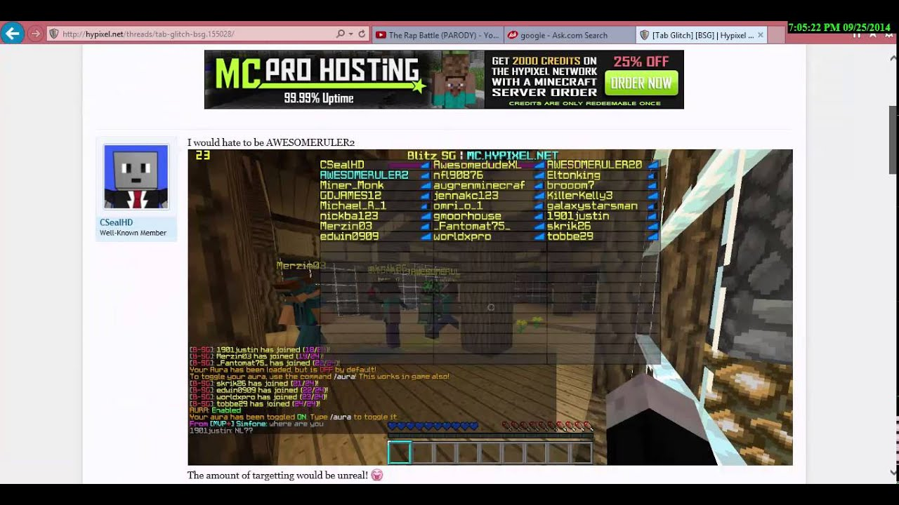 What hypixel thinks of us!