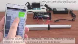 Contrôleur Sans Fil Pour Contrôler Moteur d'Actionneur Linéaire Via Votre Téléphone Portable