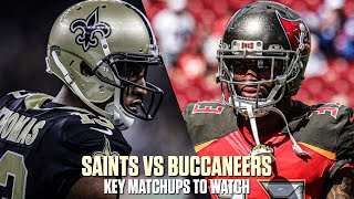 New Orleans Saints VS Tampa Bay Buccaneers Key Matchups | NFL Week 11 Matchups to Watch