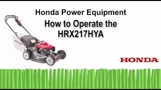 HRX217HYA Lawn Mower Operation