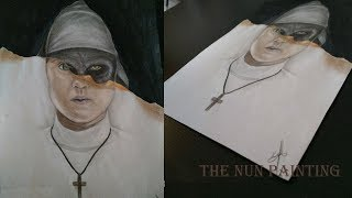 The Nun poster painting