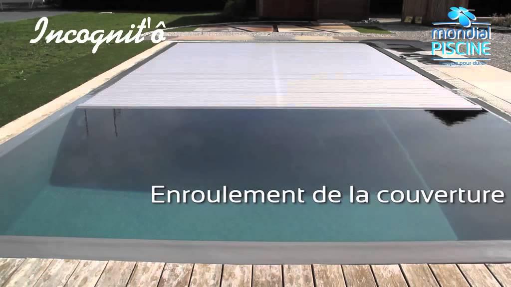 La couverture automatique incognit 39 invisible youtube for Couverture piscine automatique