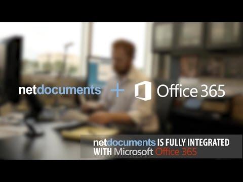 NetDocuments + Microsoft Office 365