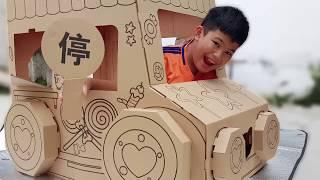 Trò Chơi Nhà Giấy Xe Hơi ❤ ChiChi ToysReview TV ❤ Đồ Chơi Thiếu Nhi Baby Tent Car House Paper
