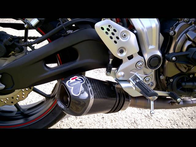 MT 07 Termignoni Exhaust Soundcheck