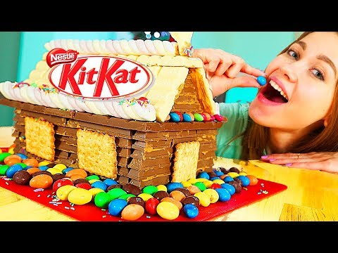 KIT-KAT CHRISTMAS CAKE with m&ms! Anny May