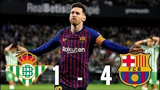 Real Betis vs Barcelona [1-4], La Liga 2018/19 - MATCH REVIEW