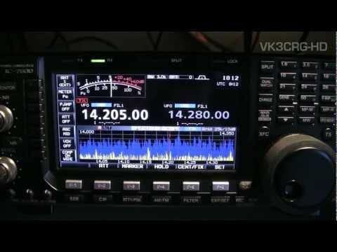 QSO between Craig VK3CRG Australia & Alex GM4NFC Scotland Icom IC-7600