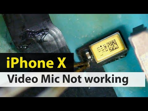 IPhone X Mic Not Working When Front Cam Video Recording