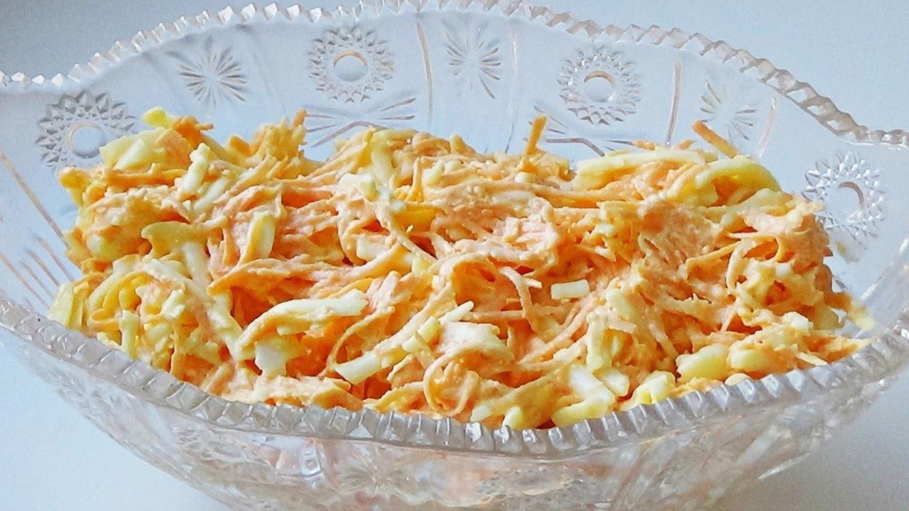 Как приготовить салат рыжик из сыра