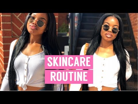 SKINCARE ROUTINE 2018!! TIPS & TRICKS FOR A NATURAL GLOW!!