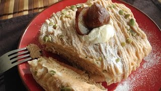 Mont Blanc Pancake  Recipe /お家カフェ!モンブランパンケーキ作り方