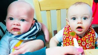 FUNNY BABY FOOD SHARING!