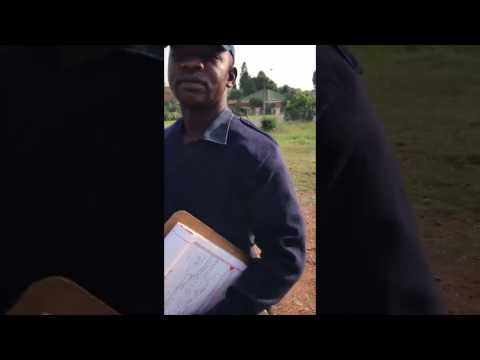 Metro Police official in Edenvale Johannesburg has run in with cheeky member of the public